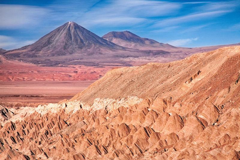 Valle de Marte em San Pedro de Atacama no Chile: paisagem