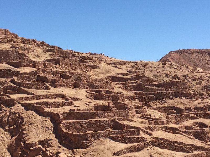 Sítio arqueológico Pukará de Quitor em San Pedro de Atacama no Chile
