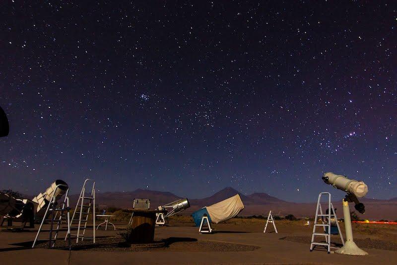 Tour astronômico em San Pedro de Atacama no Chile: espaço ao ar livre para observação