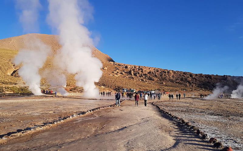 Geyser del Tatio em San Pedro de Atacama no Chile: tour