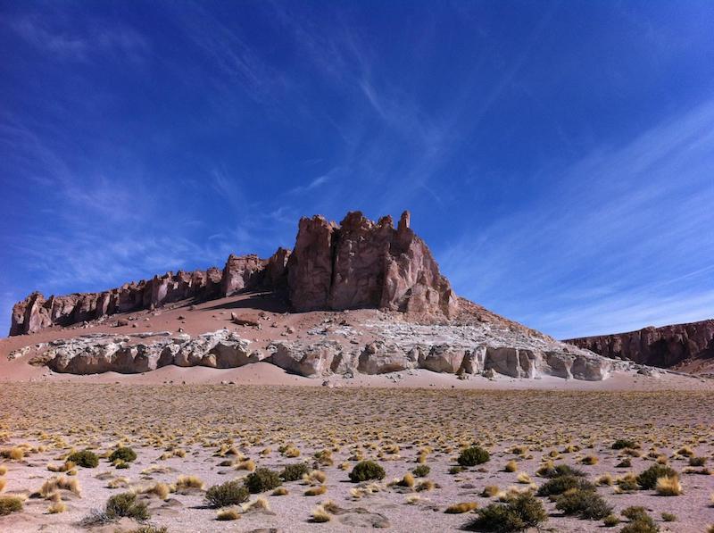 Salar de Tara em San Pedro de Atacama no Chile: trilha
